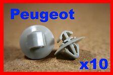 10 Peugeot door card fascia trim panel moulding fastener clips