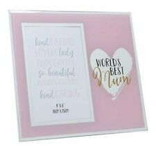 MUM Mothers Day Gifts World's Best Mirror Photo Frame
