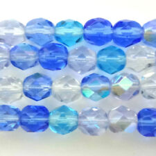 Blue Round 6 - 6.9 mm Size Jewellery Making Craft Beads