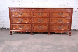 Baker Furniture Milling Road French Provincial Louis XV Cherry Wood Dresser