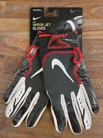 Nike Vapor Jet Buccaneers Skill Football Gloves Pewter/Red PGF902-223 Men Size L