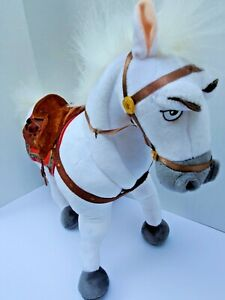 "Disney Store Tangled Rapunzel Doll Maximus 14"" White Horse Stuffed Animal Plush"