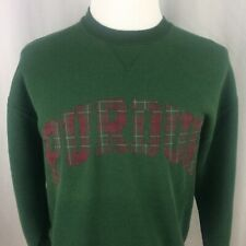 Vintage Purdue University Sweatshirt Large 90s Plaid Green Russell Athletic USA