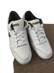 Mens New White Kswiss Trainers Size 10