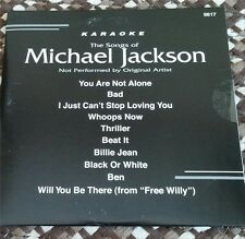 MICHAEL JACKSON KARAOKE CDG DISC BACKSTAGE KARAOKE OLDIES,R&B,THRILLER,BEAT IT