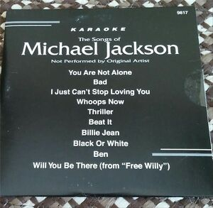 MICHAEL JACKSON KARAOKE CDG DISC BACKSTAGE KARAOKE OLDIES,R&B,THRILLER,BEAT IT