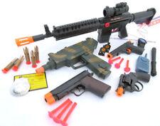 5X Toy Guns UZI Machine Gun Dart Colt .45 & 9MM Dart Pistol Revolver Cap Gun Set