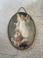 Unique Vintage Guardian Angel Wall Hanging, Matches Bradford Exchange Plate  A4