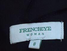 FRENCHEYE,Italy BlackSatinStraplessEveningMiniGown Size8