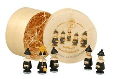 Cajetilla 5 FIGURAS DE CANTANTES Negro Sin bäumchen 3cm Seiffen Navidad
