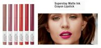 MAYBELLINE SUPERSTAY INK CRAYON LIPSTICK MATTE LONGWEAR LIPSTICK Choose Shade
