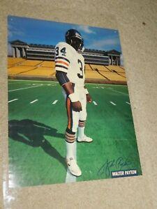 VINTAGE RARE 1987 CHICAGO BEARS FOOTBALL WALTER PAYTON POSTER