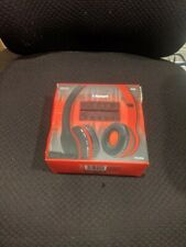 Sentry Bluetooth Stereo Headphones With Mic Red and Black BT200