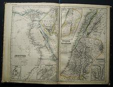 H.Kiepert Atlas:EGITTO-FENICIA E PALESTINA #2 Tav.1882.