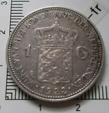 G01201 monnaie royale 1 gulden 1922 pays bas whilhelmina koningin argent