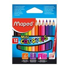 Crayons de Couleurs Maped Color'peps Mini- Étui de 12 Pièces
