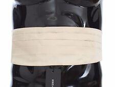 NEW $380 DOLCE & GABBANA Cummerbund Off White Mens Waist Belt Silk s. IT48 / M