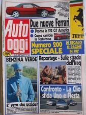 Auto OGGI n°200 1990 Ferrari 512 Gt America - Ferrari Testa Rossa  [Q200]