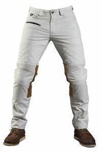 Fuel Motos Sergent Colonial Moto Aramide Pantalon - Blanc