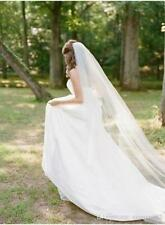 Formal 1T 3M Long Bridal White/Ivory Veil For Wedding Cathedral With Comb