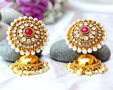 Jhumka Jhumki Earring Set Jewelry Indian Ethnic Bollywood Gold Plated Polki