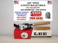 200 GR 452-200-RF LEE 2-CAVITY BULLET MOLD LEE 90234 90234 .452 DIA