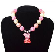 Tangled Rhine Pendant Rapunze Acrylic Chunky Bead Bubblegum Gumball Necklace