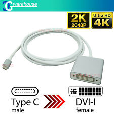 USB C 3.1 Type-C to DVI 4K/ 2K Video Converter Extended Cable for MacBook Laptop