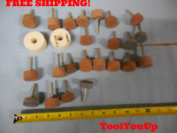"LOT OF 1/4"" ARBOR GRINDING WHEELS INDUSTRIAL MACHINE SHOP TOOLING MACHINIST TOOL"