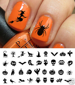 Halloween Nail Art Decals Waterslide Decals Set #3 - Salon Quality!