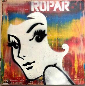 DENNIS ROPAR (b.1971), 'Redhead' Original Acrylic Painting on Canvas