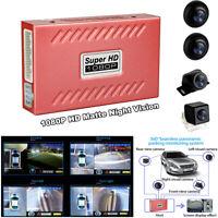 360° 1080P HD Car Seamless Bird View Panoramic System Recording Parking G-Sensor