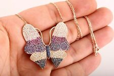 Butterfly Darling! Turkish Jewelry Multicolor 925 Sterling Silver Necklace