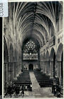 C0268cgt UK Exeter Cathedral Interior Nave Looking West vintage postcard