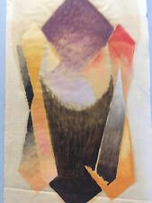 Grande Peinture Sur Papier Non Signé Art Abstrait abstraction 1960 Géométrique