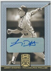 LENNY DYKSTRA PHILLIES AUTO 2005 DONRUSS GREAT GOLD SIGNATURE AUTOGRAPH