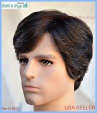 Men's Wig  Color 34 Dark Brown with 5% Grey New Man Wig Men 1267