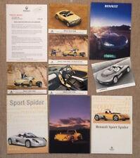 Renault Sport Spider Launch Press Release/Photographs + Brochures