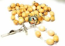 Wooden Relic Rosary 3rd class of Saint Maria Goretti patron of Victims of rape