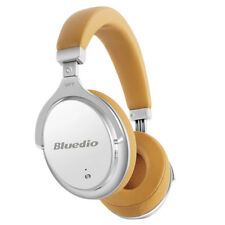 Bluedio F2 Bluetooth 4.2 Wireless Noise Cancelling Over-Ear Headphones Mic/White