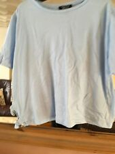 Girls New Look Baby Blue Cotton Blend Top Aged 14-15 Years
