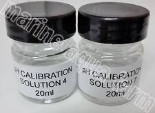 PH 4 & 7 CALIBRATION SOLUTION 20ml X 2, PH PROBE MARINE AQUARIUM REEF CORAL