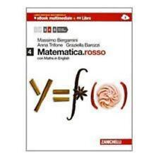 Matematica.rosso 4 con Maths in English, ZANICHELLI Bergamini, cod.9788808132079