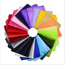 24pcs Men's Silk Solid Handkerchief Pocket Square Hanky Plain Wedding Party
