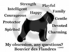 Bouvier des Flandres Dog Obsession? Sweatshirt choice of size S-Xl andcolor Sale