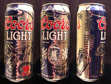 COORS LIGHT BEER 1992 CANADIAN FINALS RODEO COMMEMORATIVE 473ML PULL TAB CAN