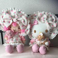 Sanrio Strawberry Shortcake & Hello Kitty Plush doll Set Cute Sweet F/S Japan
