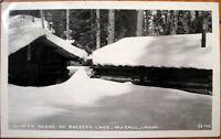 1946 Realphoto Postcard: Winter/Snow Scene, Payette Lake - McCall, Idaho ID