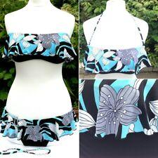 Seafolly Frilled Strapless Bikini + Hipster Briefs Set & Detachable Halterneck 8