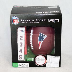 NIB SHAKE N' SCORE Travel Dice Game New England Patriots